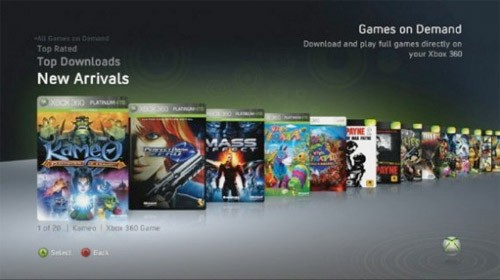 Games on demand Xbox 360