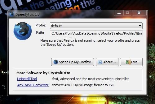 SpeedyFox para Firefox