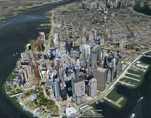 Nueva York en Google Earth