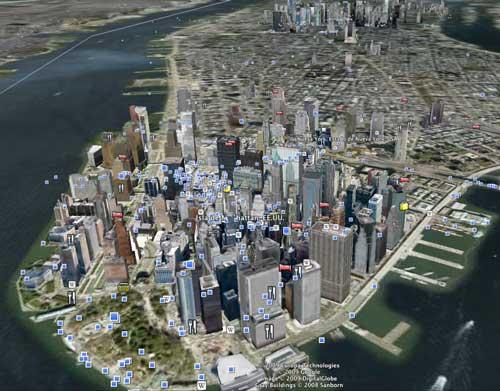 Nueva York en Google Earth
