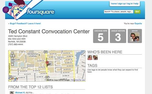 Foursquare localization