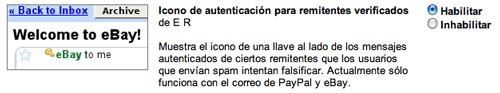 Gmail permite sacarle algo de partido a ESMTP al verificar los mensajes de Paypal/Ebay