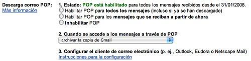 Podemos habilitarlo en la pestaña de preferencias de Gmail