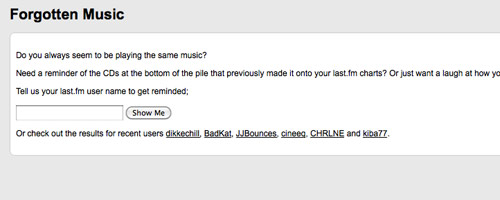 Forgotten Music