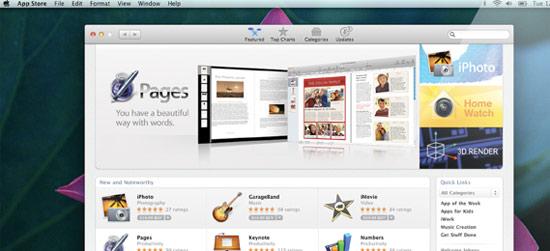 Appstore Mac OS X 10.7 Lion