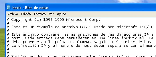 Archivo Hosts
