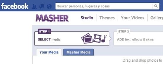 Masher, editor online de vídeo en Facebook