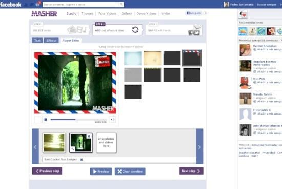 Editor de vídeo para Facebook