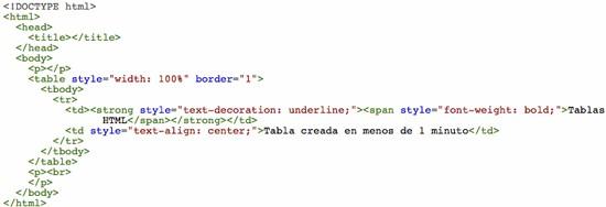 Tabla HTML 1