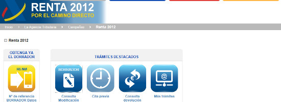 ¿Cómo solicitar el borrador de la RENTA 2012 por Internet?