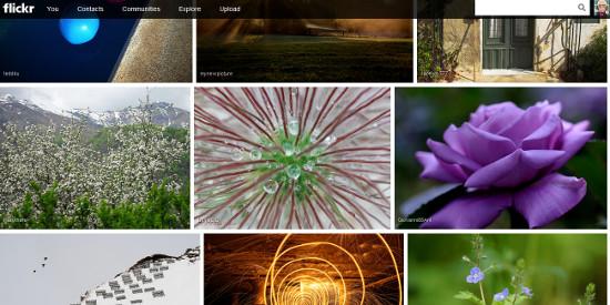 Nuevo diseño Flickr
