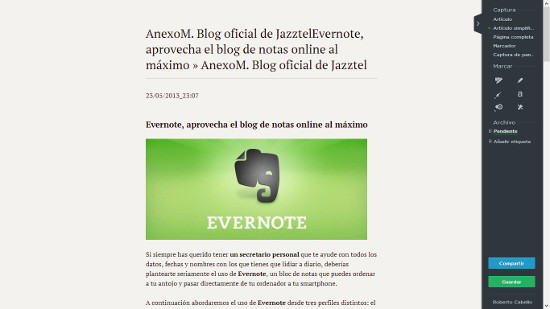 Evernote y Clearly, todo en tu libreta de notas