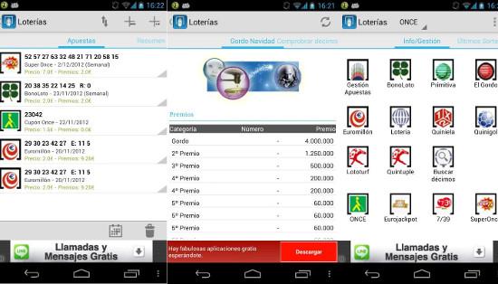 Aplicaciones para smartphone para seguir el sorteo de lotería de Navidad 2013 online