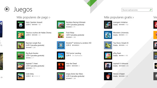 Juegos Windows Store