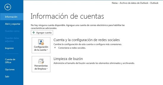 Configuración Outlook