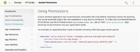 Android, permisos de las aplicaciones