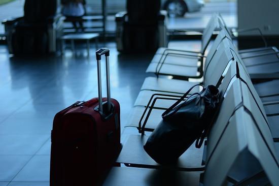Maletas de viajes en aeropuerto