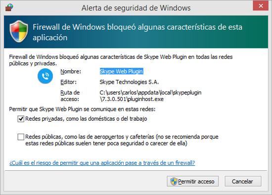 firewall-skype