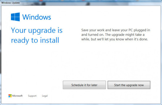 windows10 listo para instalar
