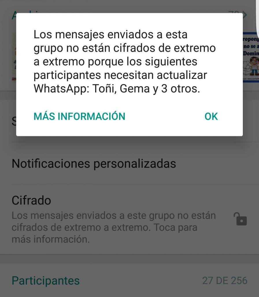 Nuevo mensaje de seguridad en WhatsApp ¿qué significa realmente?
