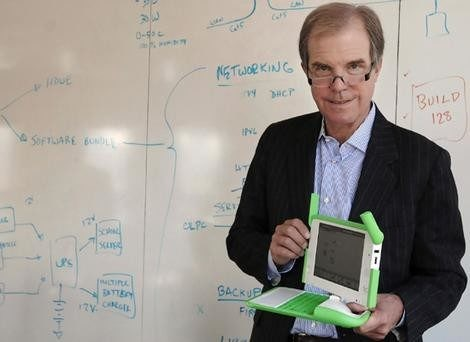 Nicholas Negroponte, the former director of the Massachusetts Institute of Technology Media Lab who now heads the nonprofit One Laptop Per Child project, discusses his effort.