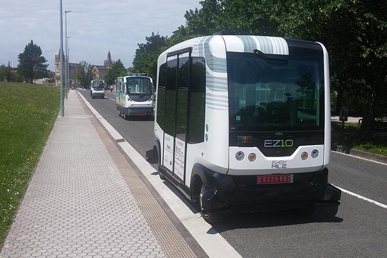 Autobuses autónomos EasyMile EZ10 (Donostia-San Sebastián)