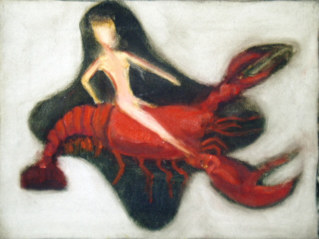 WOMAN RIDING CRUSTACEAN
