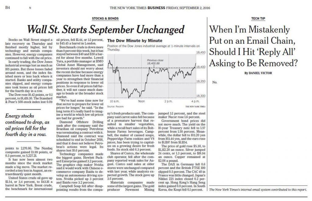 No, artículo en NYT