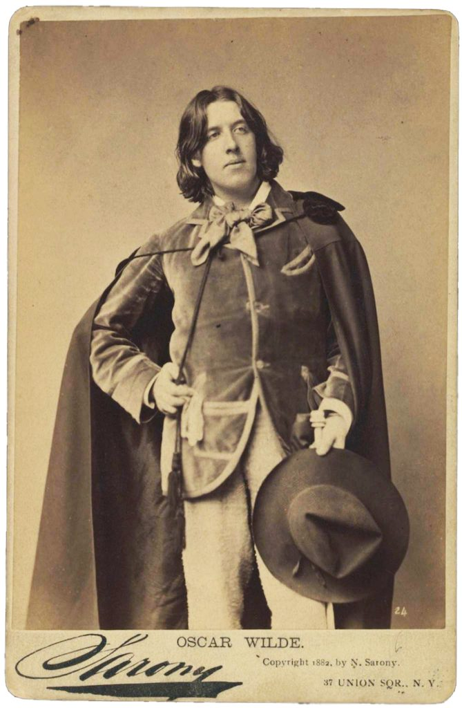 Imagen de Oscar Wilde tomada por Napoleon Sarony