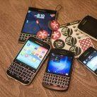 Distintos modelos de teléfonos BlackBerry