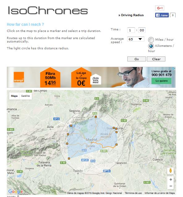 isochrones