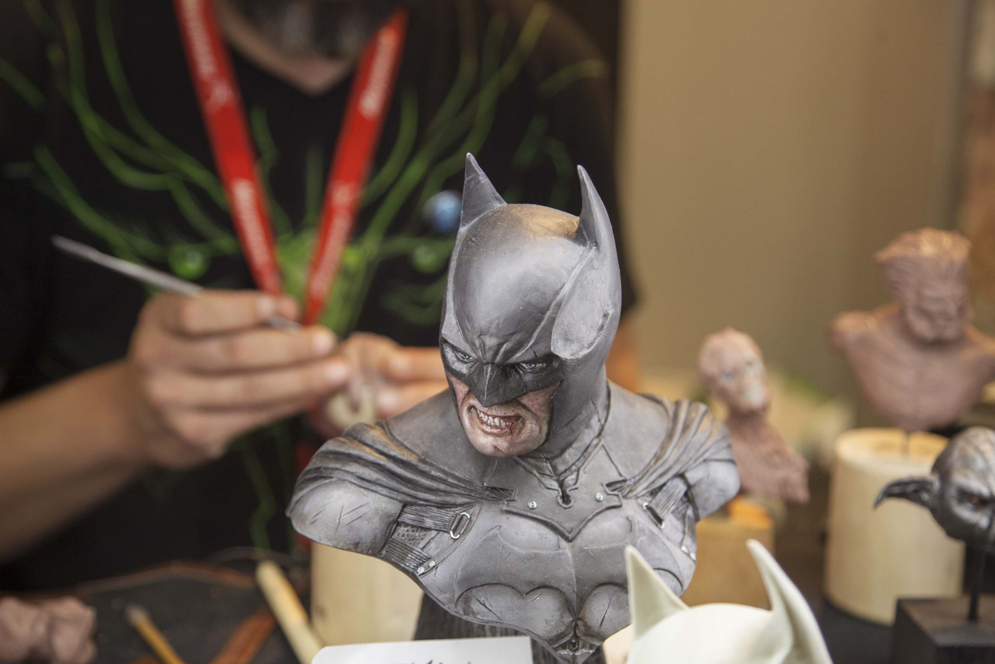 El arte también tiene su lugar en el MGE. Junto con dibujantes o músicos, escultores como Eduardo Velayos son capaces de crear figuras inspiradas en los personajes del cómic y los videojuegos.