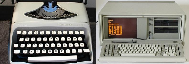 remington sperry rand vs ibm pc portable