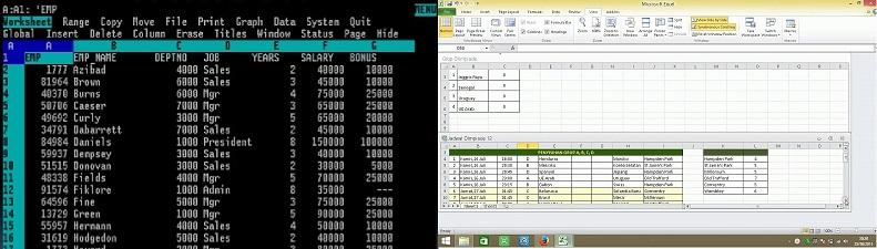 hojas de cálculo lotus 123 vs excel 365