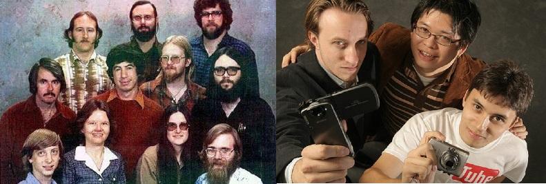 emprendedores microsoft 1978 vs youtube 2005