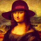 Recreación de la Gioconda con sombrero según Sombrerería Albiñana