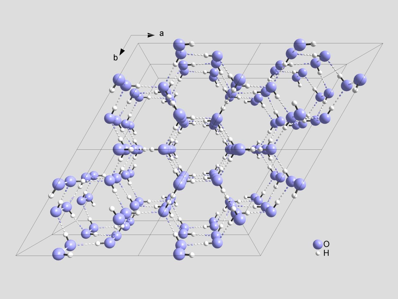cristal de hielo en la atmósfera nanotecnología
