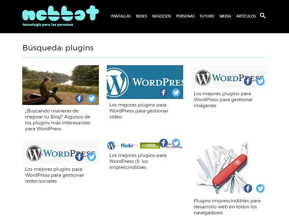 búsqueda por plugins