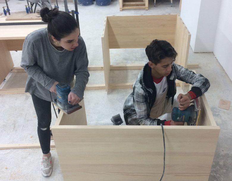 Trabajando en el GarageLab de Fundación Orange