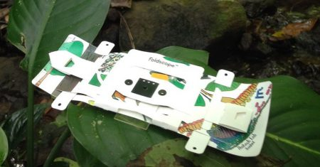 foldscope - microscopio de papel