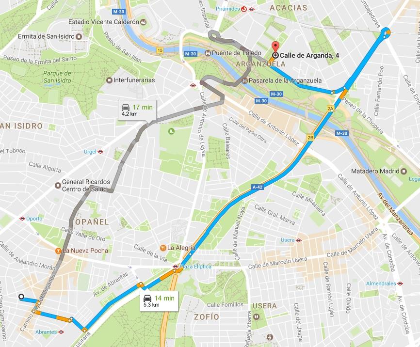 ruta mas corta GPS
