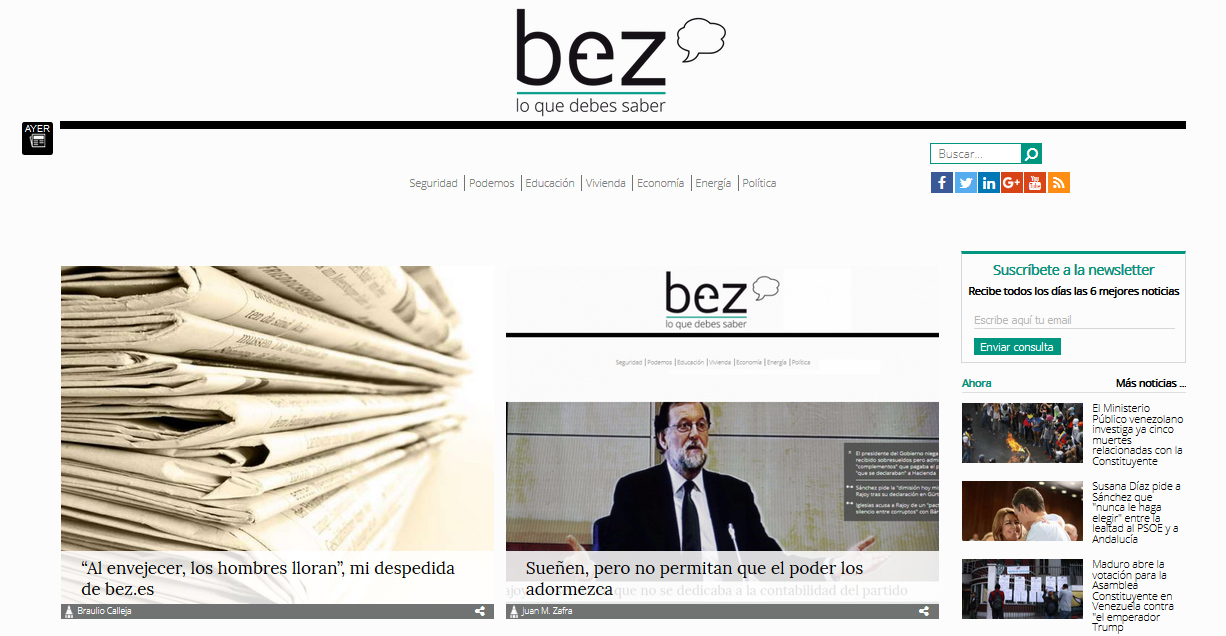 Última portada de Bez.es