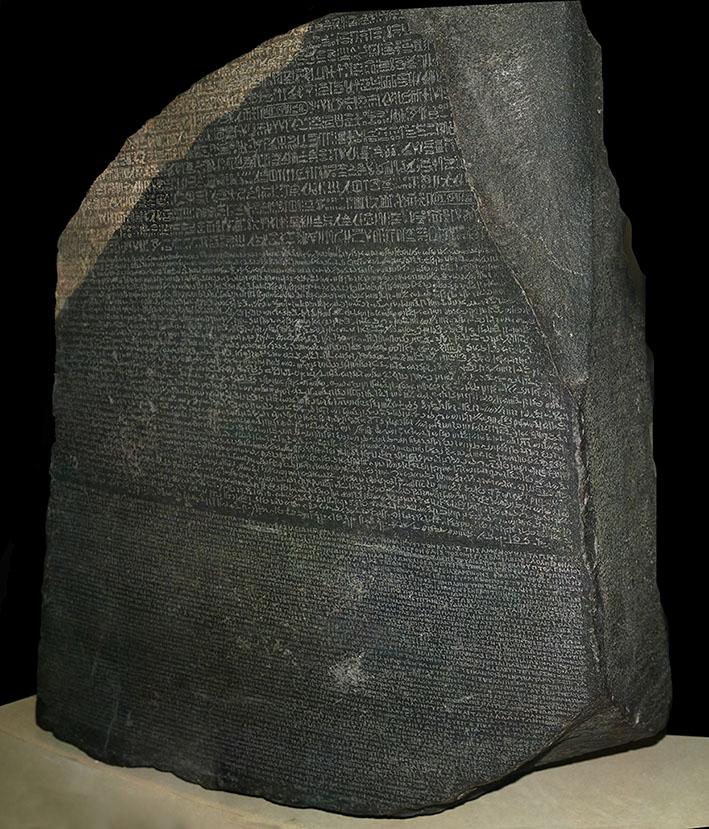 Piedra de Rosetta serendipias
