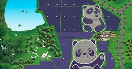 Energía solar. Panda