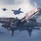 naves espaciales en el cielo futuro