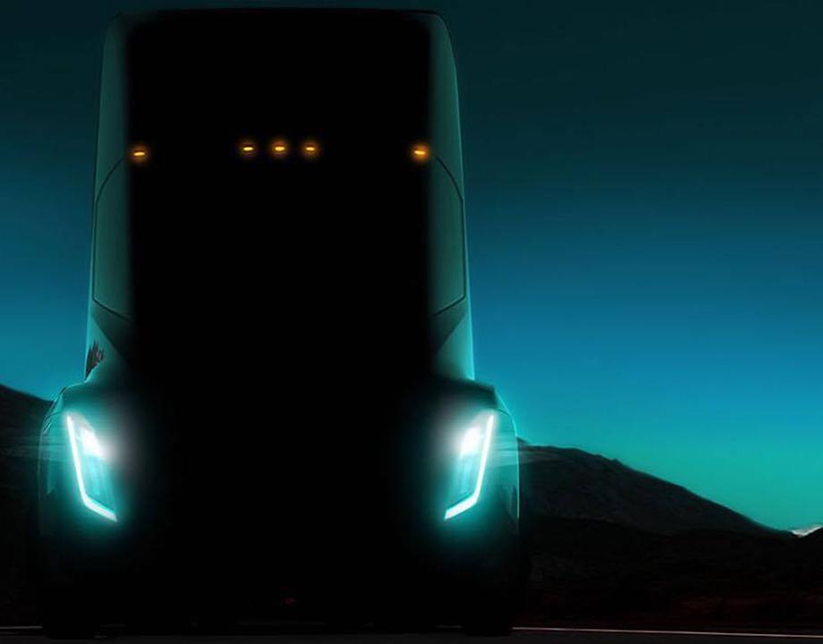 Camión tesla efecto wow