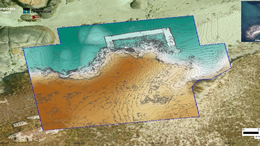 mapa aéreo fotogrametria de areoso