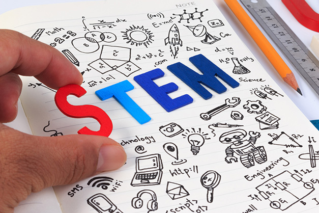 STEM carreras dibujos