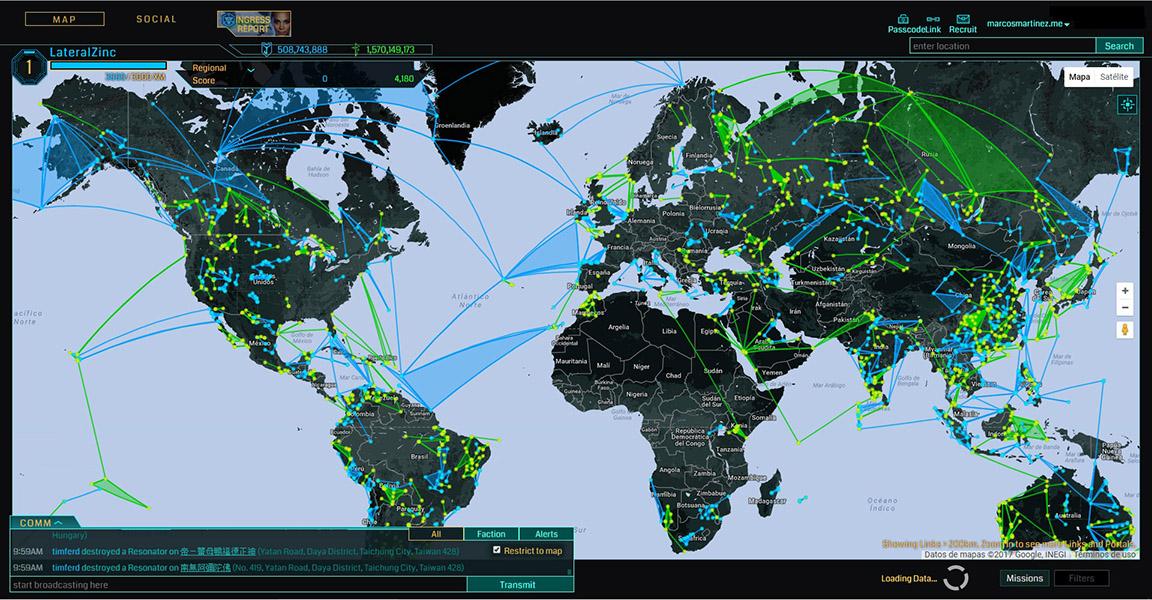 captura de pantalla de videojuego ingress