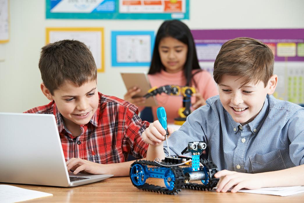 entorno colaborativo robótica niños